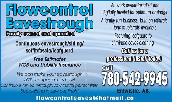 Flow Control Eavestrough